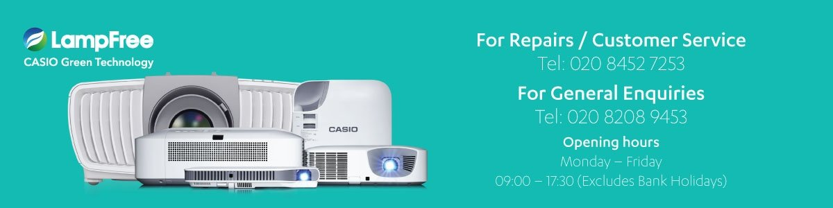 Casio Projectors contact us information