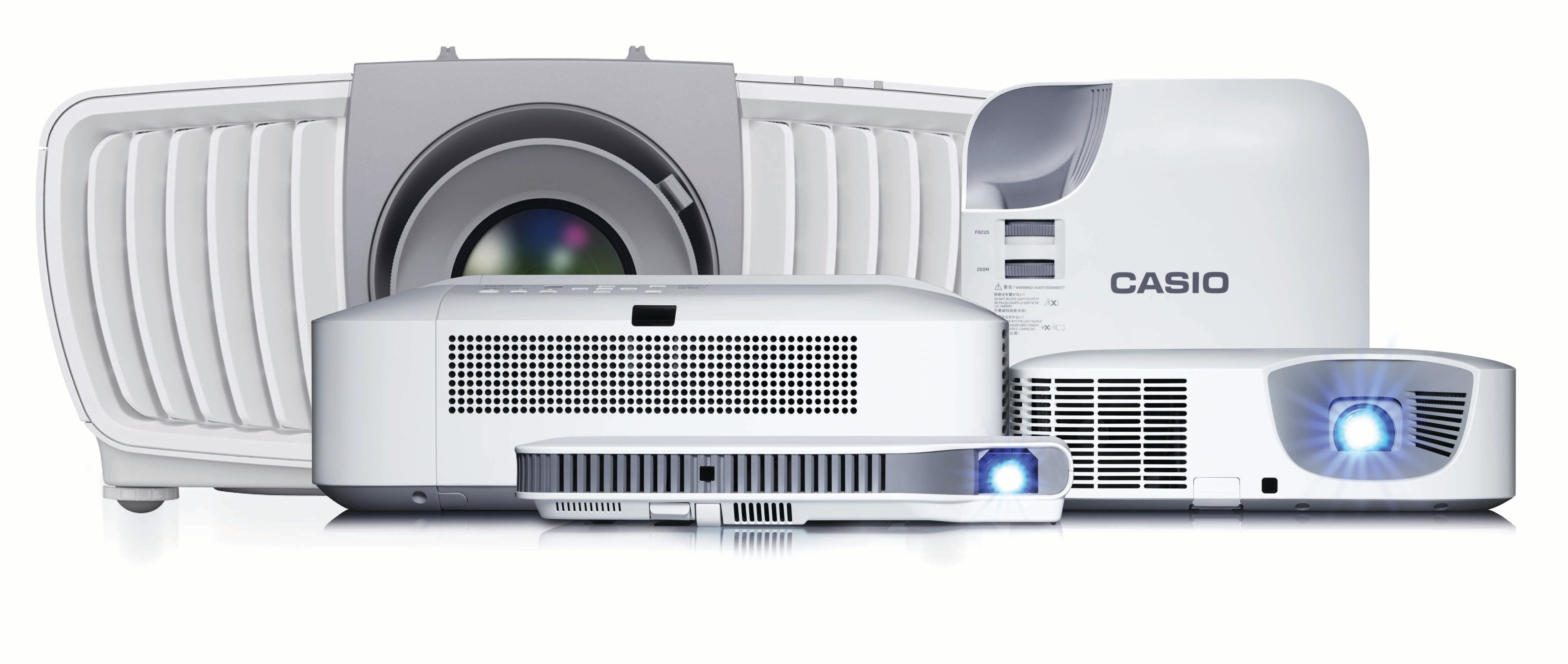Casio lamp-free projectors line up