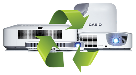 Recycle and replace with Casio Projectors